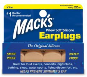 Macks Plugs Silicone Beige 2 pair